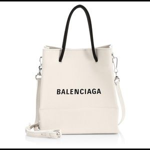 Balenciaga Extra-Small Logo Leather Shopper